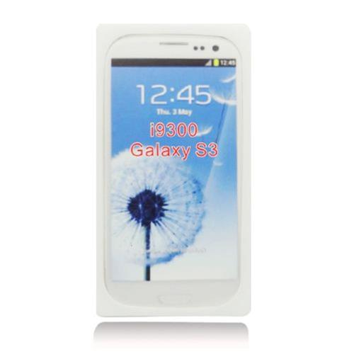 Insten Cassette Tape Skin Rubber Case For Samsung Galaxy S3, White
