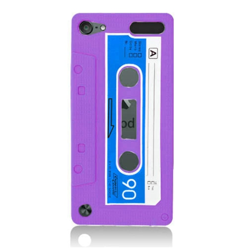 Insten Cassette Tape Skin Rubber Case For Apple iPod Touch 5th Gen, Purple