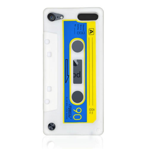 Insten Cassette Tape Gel Rubber Cover Case For Apple iPod Touch 5th Gen, White
