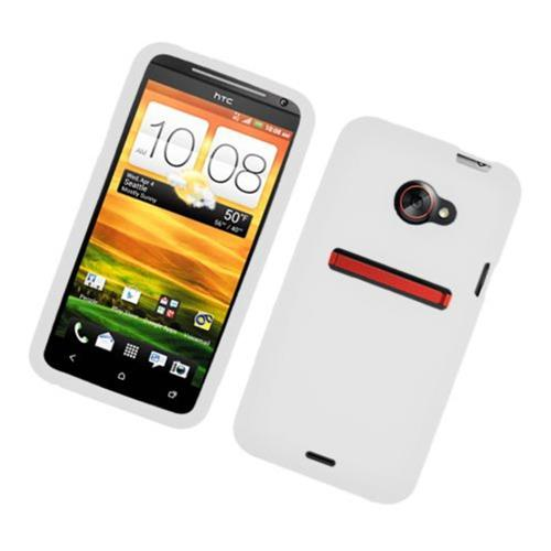 Insten Silicone Rubber Case For HTC EVO 4G LTE, White