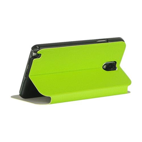 Insten Flip Leather Fabric Case w/stand For Samsung Galaxy Note 3, Green