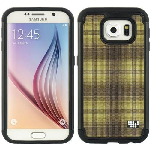 Insten Fitted Soft Shell Case for Samsung Galaxy S6 - Yellow;Black
