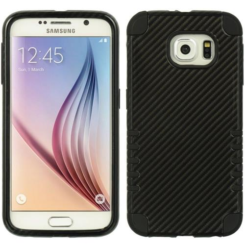 Insten Hard Hybrid TPU Case For Samsung Galaxy S6, Black