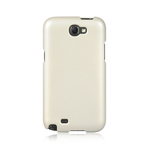 Insten Hard Rubberized Cover Case For Samsung Galaxy Note II, Clear