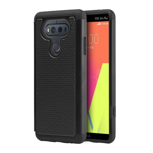 Insten Dots Hard Dual Layer TPU Cover Case For LG V20, Black