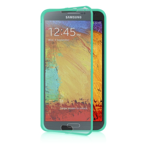 Insten Wrap Up TPU Case w/Installed For Samsung Galaxy Note 3, Teal