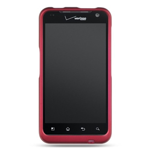 Insten Hard Rubber Coated Case For LG Esteem/Revolution, Hot Pink