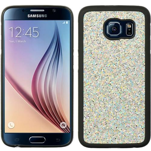 Insten Glittering Hard Glitter Cover Case For Samsung Galaxy S6, White/Black