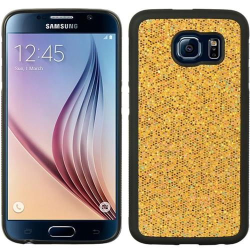 Insten Glittering Hard Glitter Case For Samsung Galaxy S6, Gold/Black