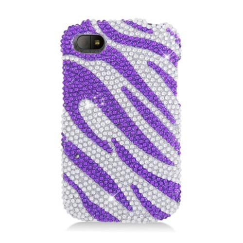 Insten Zebra Hard Bling Cover Case For BlackBerry Q10, Hot Pink/Pink