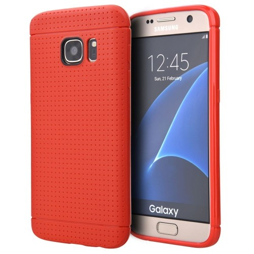 Insten Fitted Hard Shell Case for Samsung Galaxy S7 Edge - Red