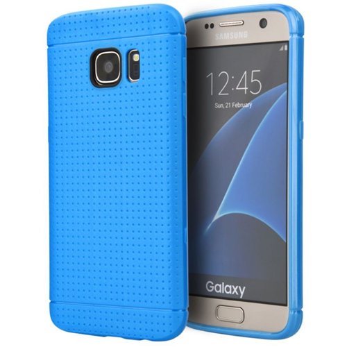Insten Fitted Hard Shell Case for Samsung Galaxy S7 Edge - Blue
