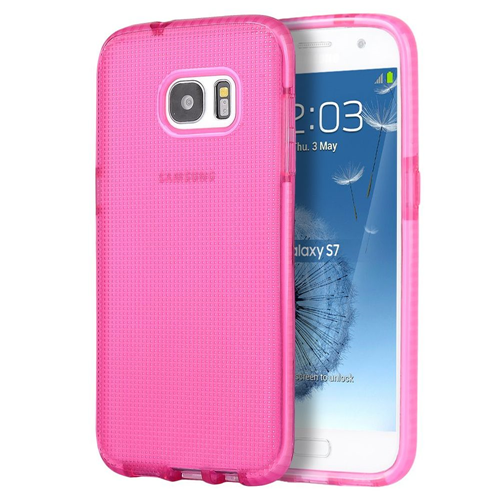 Insten Dots TPU Case For Samsung Galaxy S7, Hot Pink