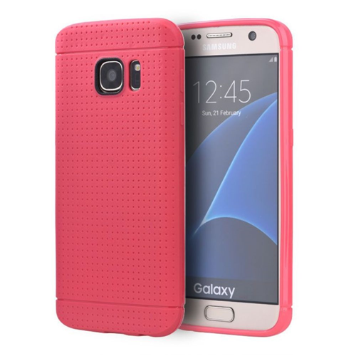 Insten Dots Gel Case For Samsung Galaxy S7, Hot Pink