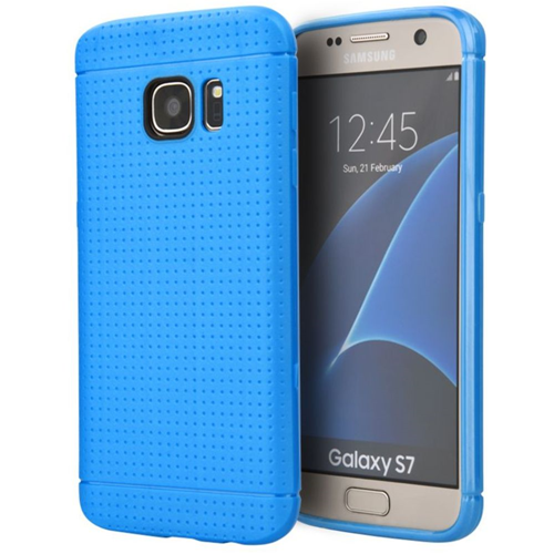 Insten Fitted Hard Shell Case for Samsung Galaxy S7 - Blue