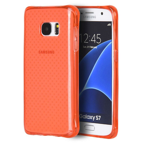 Insten Dots Gel Cover Case For Samsung Galaxy S7, Red
