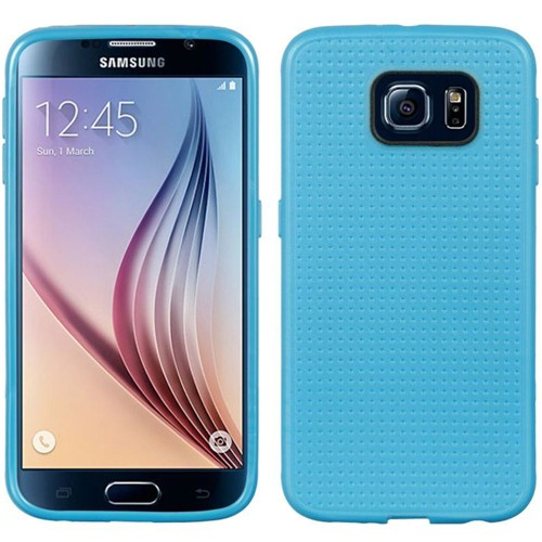 Insten Dots TPU Cover Case For Samsung Galaxy S6, Blue