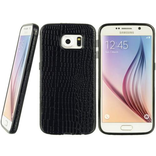 Insten Crocodile Leather Skin Case For Samsung Galaxy S6, Black