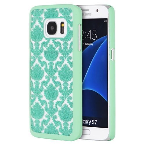 Insten Lace Hard Rubberized Case For Samsung Galaxy S7, Teal