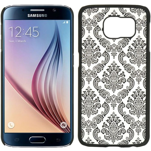 Insten Lace Hard Plastic Case For Samsung Galaxy S6, Black/White