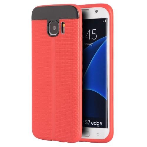 Insten TPU Case For Samsung Galaxy S7 Edge, Red/Black