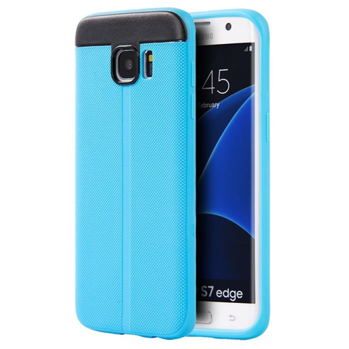 Insten Gel Cover Case For Samsung Galaxy S7 Edge, Blue/Black