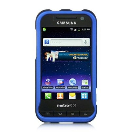 Insten Hard Rubber Coated Cover Case For Samsung Galaxy Attain 4G, Blue