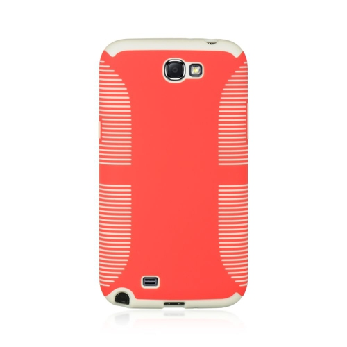 Insten Hard Case For Samsung Galaxy Note II, Red/White