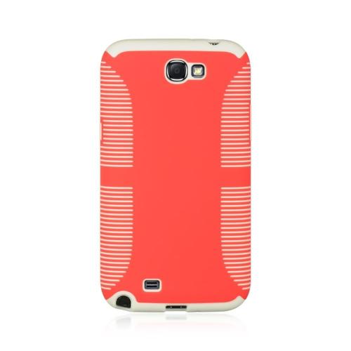 Insten Hard Case For Samsung Galaxy Note II, Red/White