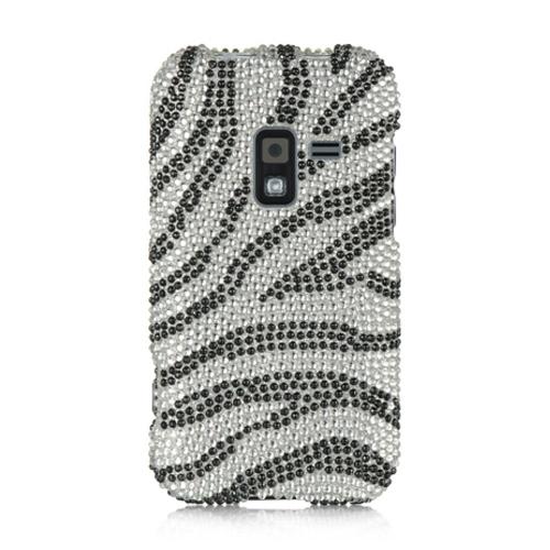 Insten Zebra Hard Bling Cover Case For Samsung Galaxy Attain 4G, Black/White