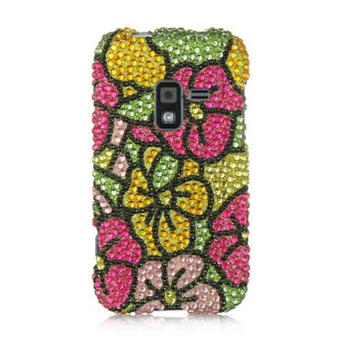 Insten Hawaii Flower Hard Bling Cover Case For Samsung Galaxy Attain 4G, Yellow/Green