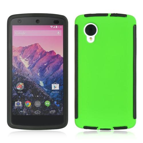 Insten Hard TPU Cover Case w/Installed For LG Google Nexus 5 D820, Green