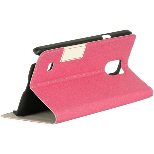 Insten Folio Case for Samsung Galaxy Note 4 - Hot Pink