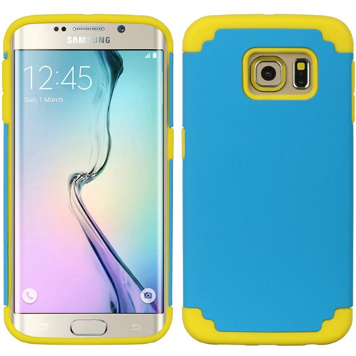 Insten Fitted Soft Shell Case for Samsung Galaxy S6 Edge - Yellow;Blue