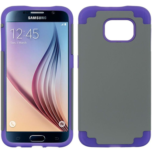 Insten Fitted Soft Shell Case for Samsung Galaxy S6 - Gray;Purple