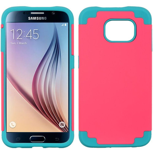 Insten Fitted Soft Shell Case for Samsung Galaxy S6 - Hot Pink;Blue