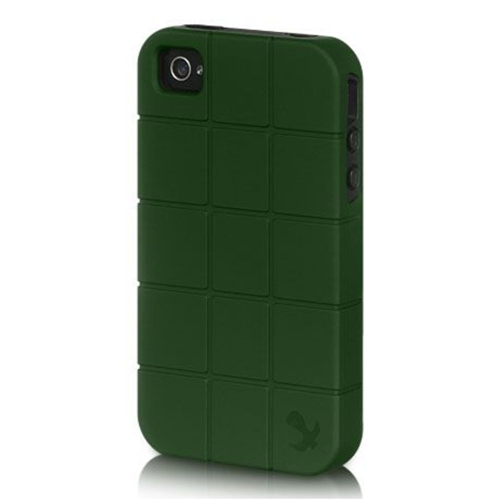 Insten Fitted Soft Shell Case for iPhone 4S;iPhone 4 - Green;Black