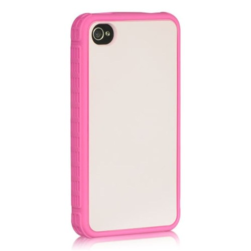 Insten Skin Rubber Case For Apple iPhone 4/4S, Hot Pink
