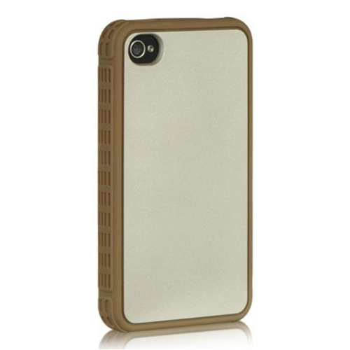Insten TPU Case For Apple iPhone 4/4S, Silver/Black