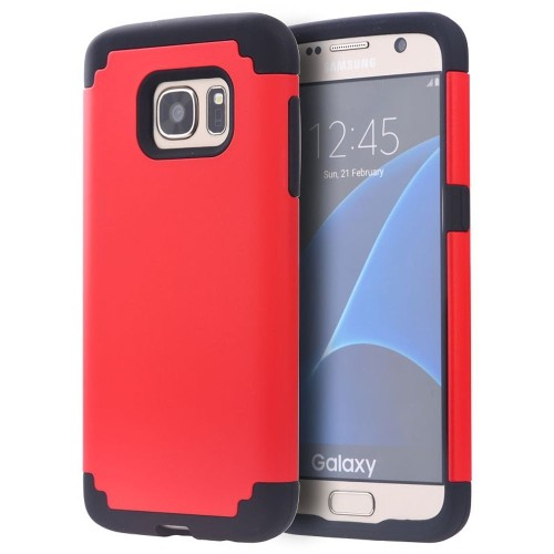 Insten Hard Dual Layer TPU Case For Samsung Galaxy S7, Red/Black