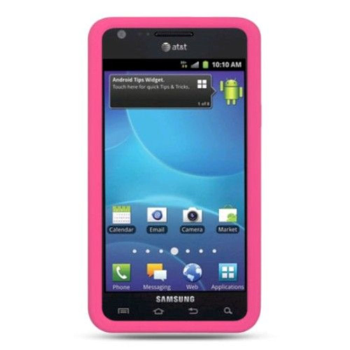 Insten TPU Cover Case For Samsung Galaxy S2 Attain I777, Hot Pink