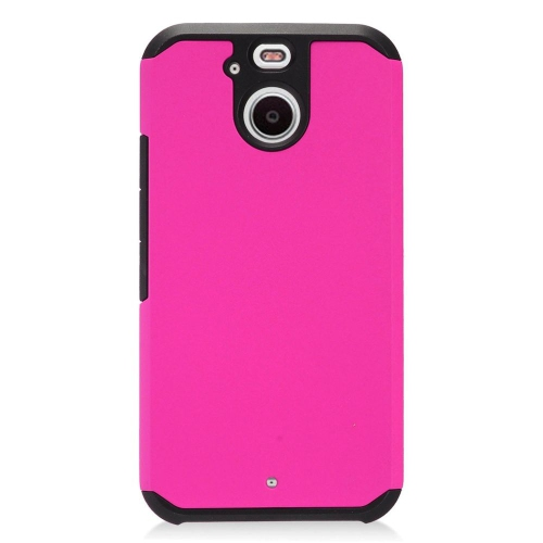 Insten Hard Dual Layer TPU Cover Case For HTC 10 EVO / Bolt, Hot Pink/Black
