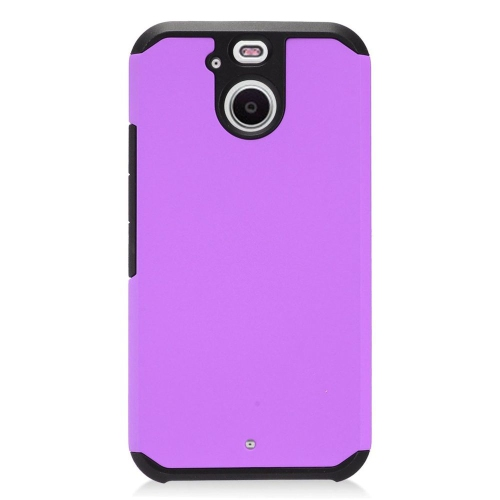 Insten Hard Hybrid TPU Cover Case For HTC 10 EVO / Bolt, Purple/Black