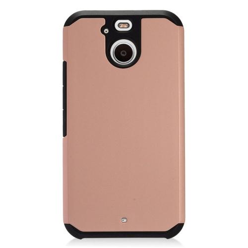 Insten Hard Hybrid TPU Cover Case For HTC 10 EVO / Bolt, Rose Gold/Black