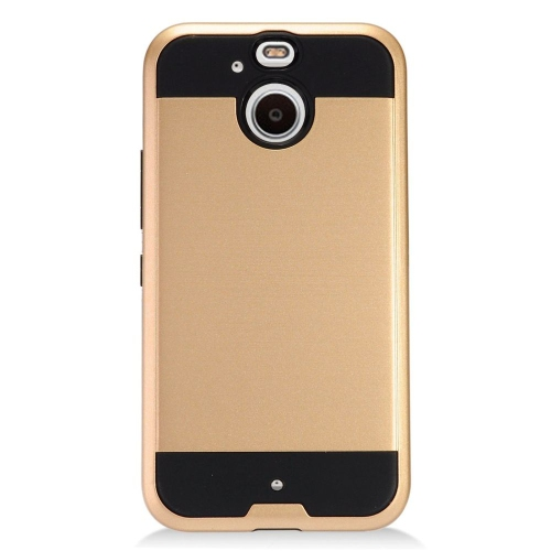 Insten Hard Dual Layer TPU Cover Case For HTC 10 EVO / Bolt, Gold/Black