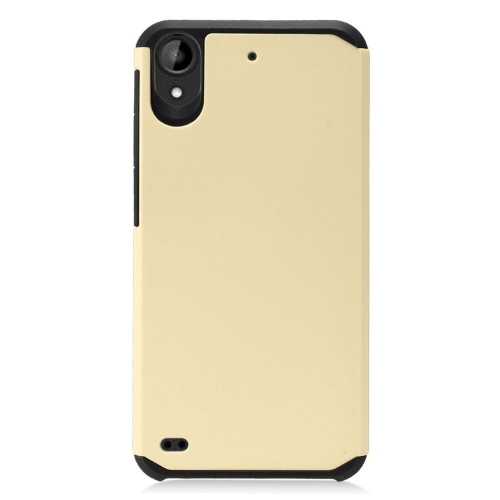 Insten Hard Dual Layer TPU Case For HTC Desire 530, Gold/Black