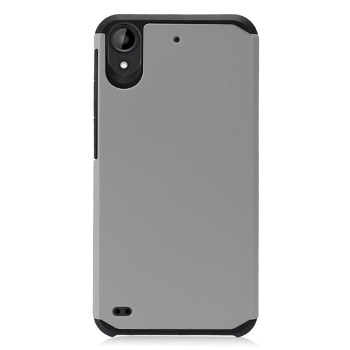 Insten Hard Hybrid TPU Case For HTC Desire 530, Gray/Black