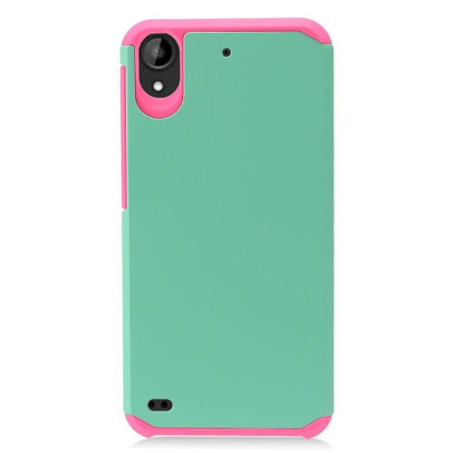 Insten Hard Hybrid TPU Cover Case For HTC Desire 530, Green/Pink