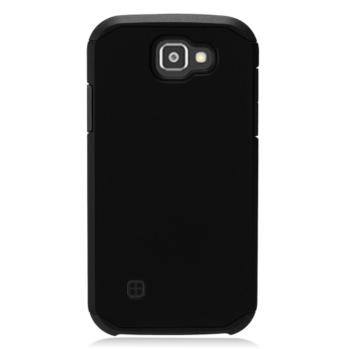 Insten Hard Dual Layer TPU Cover Case For LG K3 (2016), Black