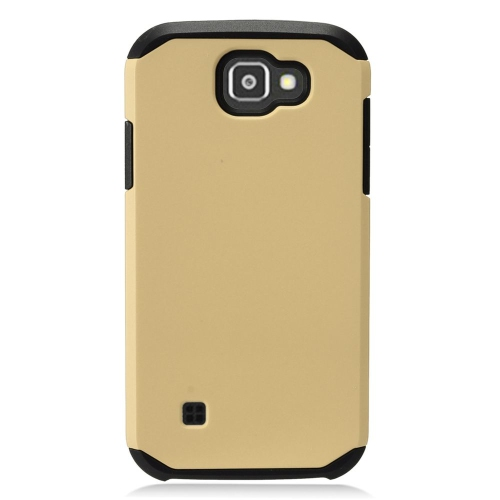Insten Hard Hybrid TPU Case For LG K3 (2016), Gold/Black